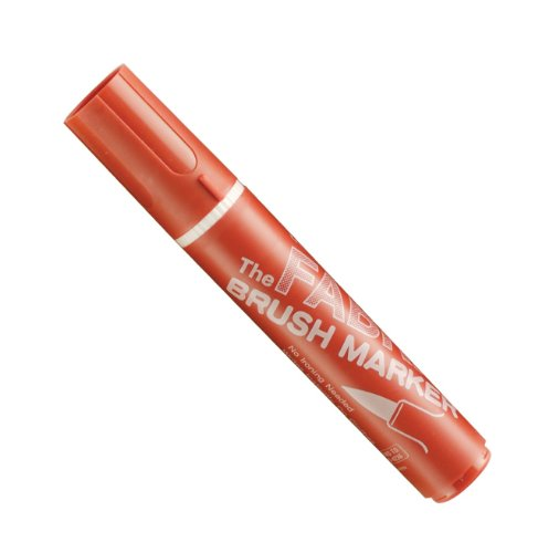 Uchida Marvy Fabric Brush Point Marker Art Supplies, Cherry