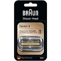 Braun Series 9 92M Cabezal de Recambio para Afeitadora Eléctrica, Compatible con las Afeitadoras Series 9, Plata