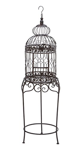 "Deco 79 55122 Metal Bird Cage, 47"" x 14"""