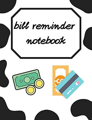 bill reminder  notebook (English Edition)
