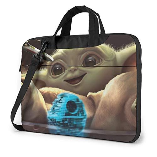 Star Wars Yoda Laptop Bag 14 15 15.6 Inch Briefcase Shoulder Messenger Bag Water Repellent Laptop Bag Satchel Tablet Bussiness Carrying Handbag for Women and Men15.6 inch