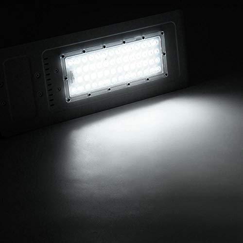 Garten Solarleuchten 54 LED 60W Straße Straßen-Licht wasserdicht Outdoor-Yard Aluminiumlampen-Flutlicht AC 100-240V, Energieeinsparung (Color : White)