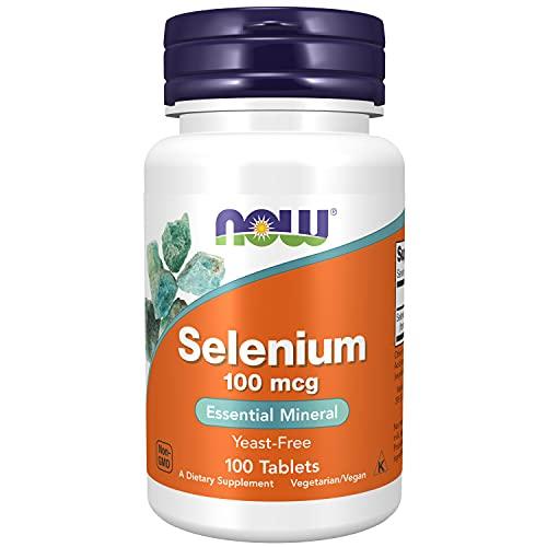 NOW Supplements, Selenium (L-Selenomethionine) 100 mcg, Essential Mineral*, 100 Tablets