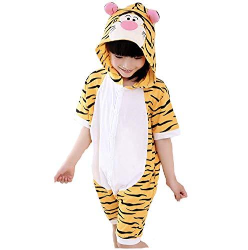 emmarcon pigiami estivi in cotone animali da bambini tuta costume carnevale Halloween festa cosplay unisex est-tig110