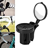Denret3rgu Carretera Bicicleta de montaña Ciclismo Bicicleta Ajustable Manillar Tapón Espejo retrovisor Negro