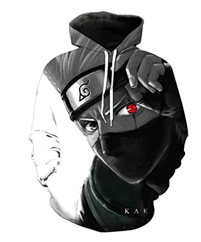 Sweats À Capuche,Personnage Anime Ninja Series Men 3D Casual Hoodie Drawstring Unisex Fashion Outdoor Sportswear Color Mixing L
