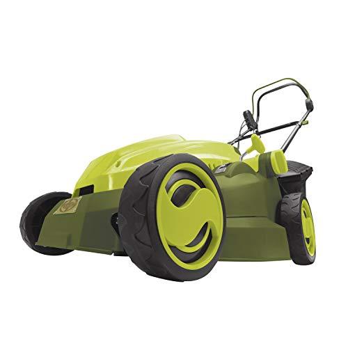 mulcher mowers Sun Joe MJ402E 16-Inch 12-Amp Electric Lawn Mower + Mulcher, 6-Position Height Adjustment, 9.3-Gallon Detachable Grass Collection Bag