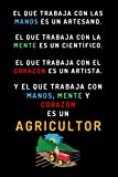 El Que Trabaja Con Manos, Mente Y Corazón Es Un Agricultor: Cuaderno De Notas Original Como Regalo Para Agricultores - 120 Páginas