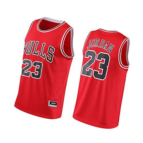 CXMY Jordan Basketball Jersey Bulls 23#, Unisex Mesh Sportswear Vest, Summer Sleeveless Basketball Swingman Jersey Breathable Tops-Red-M