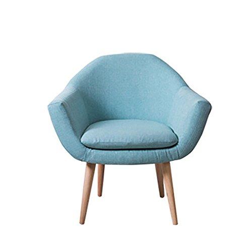 G-Y Sofa Paresseux, Nordique Petite Taille Simple Moderne Salon Canapé Unique, Chambre Balcon Petit Canapé (lin) (Couleur : Bleu clair)