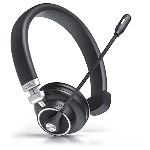 CSL - Bluetooth 4.1 Headset 38mm - Noise Cancelling - Kopfhörer mit flexiblem Mikrofon - Multipoint - kabellos - leicht - freisprechen - für Auto und LKW Computer VoIP Call Center Handys