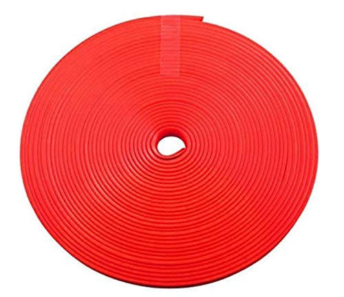 DomNandaRed 26FT Auto Car Wheel Hub Rim Edge Protector Ring Tire Guard Line Sticker Rubber Strip Decoration Scratch Prevention for Vehicle, Cars,Motorcycle(Red) - Car Protection Item - Tire Guard Tool