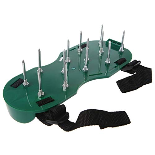 1 zapatos de uñas Par yarda del jardín de la hierba del césped Cultivador escarificación El aireador de herramientas