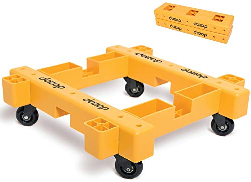 Dozop Modular-4 Dolly - Collapsible Handtruck with Heavy Duty Wheels for Moving Home & Office Appliances - Indoor and Outdoor Portable Push Cart in Retail Packing