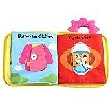 Poitemsis Libro de tela de dibujos animados bebé fieltro libros suaves con...