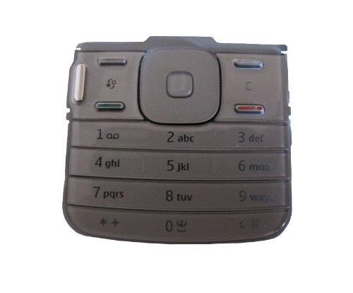 Original Neu Nokia N79 Tastatur / Tastenmatte / Keypad - silber