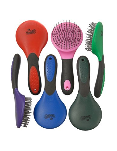 Tough 1 Great Grip Mane and Tail Brush, Red