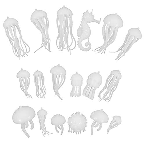 WINOMO 18Pcs Del Silicone Cariche di Fascini Ocean Marine Vita Figurine di Animali per La Produzione di Gioielli di Arte Del Chiodo Portachiavi FAI DA TE Progetti di Artigianato
