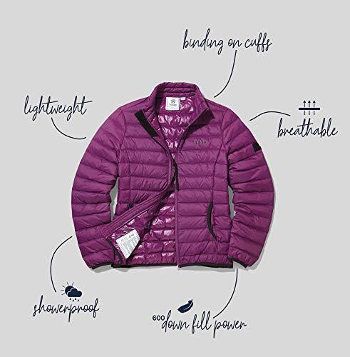 TOG 24 Elite Lightweight Womens Ultrawarm Winter Padded Down Filled Puffer Jacket Grape 10
