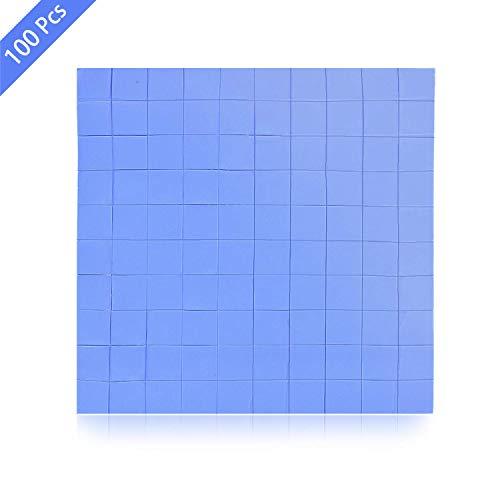 SANTOO 100 x 100 x 1mm Thermal Pad Wärmeleitfähige Silikonkissen Wärmeleitpad mit Hoch Wärmeleitfähigkeit für Chipsatzkühlung - Blau