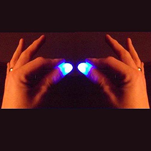 Light up thumb tips (Bright Blue) Magic trick thumbs