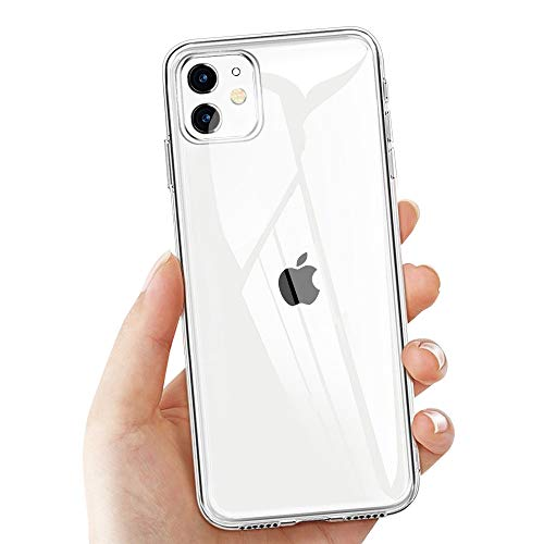 laxikoo iPhone 11 Schutzhülle, Transparent Hülle für iPhone 11 Crystal iPhone 11 Handyhülle Silikon Ultra Dünn TPU Bumper Hülle Anti-Scratch Stoßfest Soft Hülle für iPhone 11 Hülle Cover