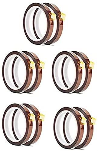Piezas de impresora 3d 10 rollos 10 mm x 33 m 108 pies Cinta de prensado en caliente - Cinta de sublimación resistente al...