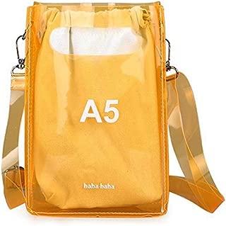 TOOGOO Summer Fashion Transparent Pvc Letter Messenger Bag Female Korean Version Of The Wild Personality Jelly Handbag Orange