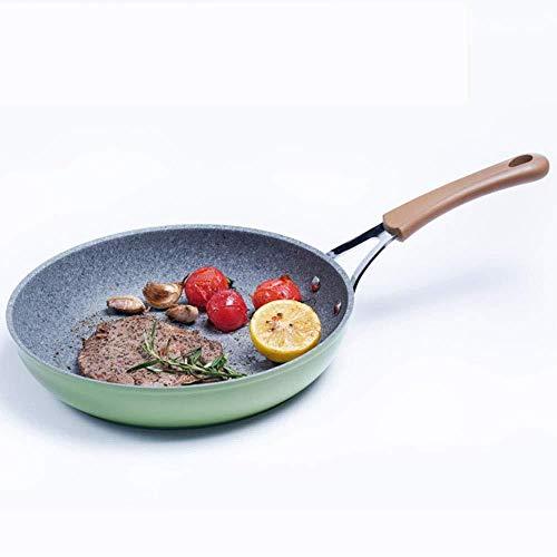 Pan Skillet, poêle à frire en pierre médicale antiadhésive, frit Wok, ustensiles de cuisine résistant à la chaleur, cuisinière à gaz cuisinière à induction Utilisation universelle barbecue en plein...