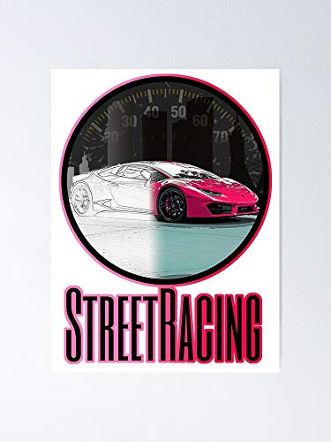 MCTEL Streetracing Concept - Pink by Sykeazt Poster 12x16 Inch No Frame Board for Office Decor, Best Gift Dad Mom Grandmother and Your Friends