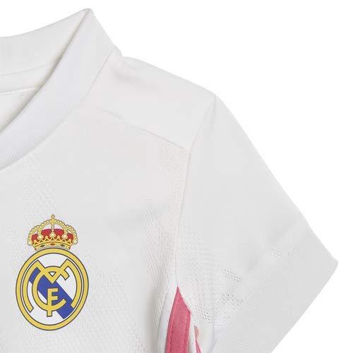 Adidas Real Madrid Temporada 2020/21 Equipación Completa Oficial, Niño, Blanco, 68 cm (Baby)