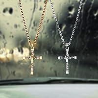 装飾クリスチャンクロス車のバックミラーの装飾品カースタイリング高品質自動車インテリアアクセサリー車のペンダント (GOLD)