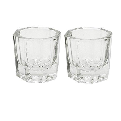 Karlash 2 Nail Art Acrylic Liquid Powder Dappen Dish Nail Crystal Bowl Glass (Dappen Dish)