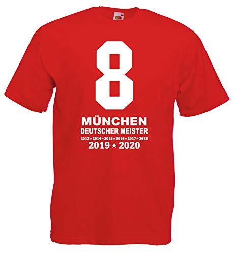 München Herren MIA SAN 8 Meister Ultras 2020 T-Shirt