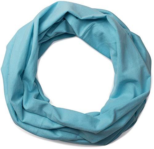 styleBREAKER styleBREAKER Jersey Multifunktionstuch, Schlauchtuch, Stirnband, Haarband, Kopftuch, Loop Schlauchschal, Unisex 01012037, Farbe:Himmel-Blau
