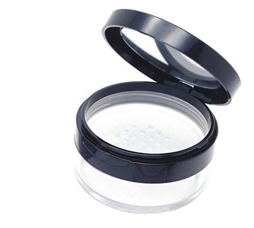 Puder-Dose mit weichen Schwamm, zum Nachfüllen, Spiegel und Sieb, 20ml