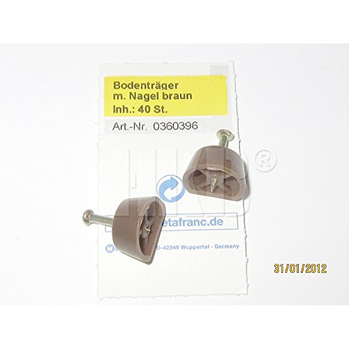 HKB ® 40 Stück Bodenträger mit Nagel, dunkelbraun, Hersteller Metafranc, Artikel-Nr. 0360396