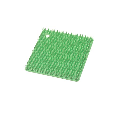 Cleaning Brush Soft and Flexible with Hanging Hole Cleaning Brush Kitchen Slot Cutting Board Gap Cleaning Brush (Color : Green)