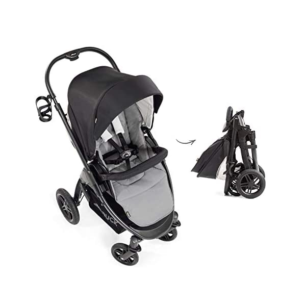 Hauck Hauck Unisex Promenade Chaises Black/Grey Hauck Maximum comfort: backrest and footrest adjustable to the lying position, extra large canopy, height adjustable handlebars, cup holders and foot covers All terrain: the stroller is suitable for both the city and the countryside thanks to the suspension, the high-quality rubber profile and the swivel and lockable front wheels. Swivel: The lightweight sports chair with removable front bar can be rotated towards parents or in moving direction easily in a few seconds. The chair supports a weight of up to 25 kg. 13
