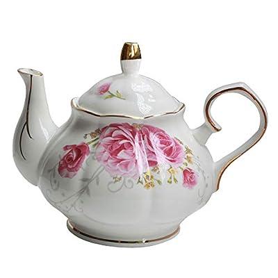 Jomop Pottery Teapot Cool Gift For Tea Lovers Handmade Ceramic Teapot (Pink)