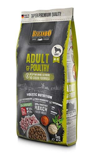 Belcando Adult GF Poultry [1 kg] getreidefreies Hundefutter   Trockenfutter ohne Getreide   Alleinfuttermittel für ausgewachsene Hunde ab 1 Jahr