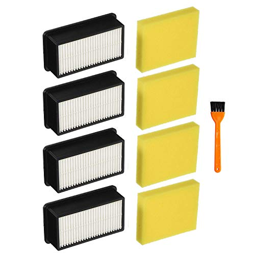 Lemige 4 + 4 Pack Filters for Bissell 1008 CleanView Vacuums Replacement Filters Kit, Compare to Part # 2032663 & 1601502