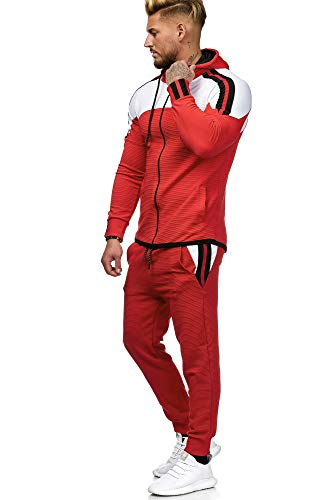Code47 Herren Jogginganzug Sportanzug Modell 1148 Rot M
