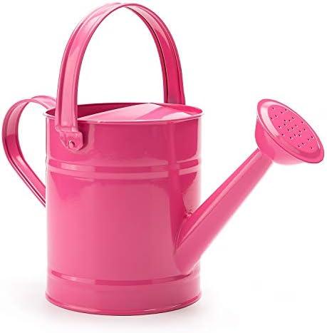 Sungmor 1 5L or 51oz Pink Metal Watering Can Kids Children Garden Outdoor Watering Bucket Small product image