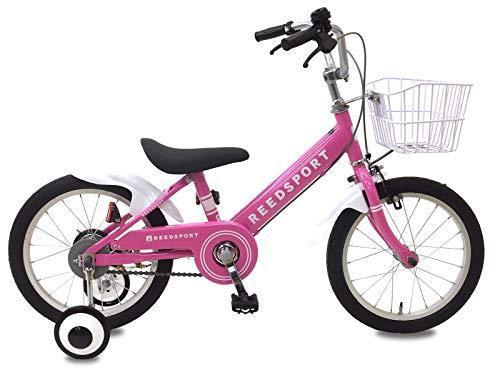 リーズポート(REEDSPORT) 18インチ ピンク 補助輪付き 組み立て式 子供用自転車 幼児自転車