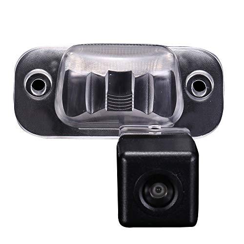 Einparkhilfe Farbkamera Nachtsicht Rückfahrkamera integriert in Nummernschild für Seat Toledo Cordoba Vario Ibiza 6K(Typ 6K) Polo 3 Classic/Stufenheck Jetta II (12mm altes Objektiv)