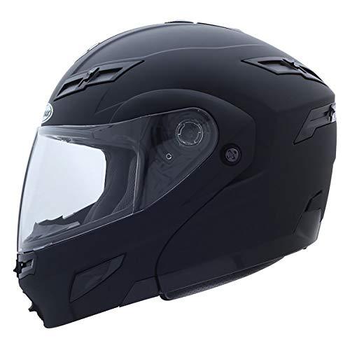 XL GMax GM54S Flat Black LED Modular Motorcycle Helmet