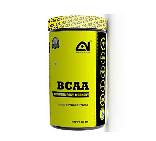 Absolute Nutrition Pre Workout BCAA 300 gm (Blue Raspberry)