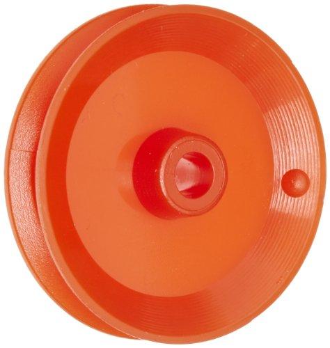 Ajax Scientific plastica Loose puleggia, diametro: 25mm, diametro: 4mm, foro centrale (confezione da 10)