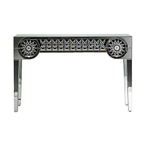 DECORHOME - Mueble Auxiliar - Recibidores Modernos - Consola Jet Espejo (121x35x78)